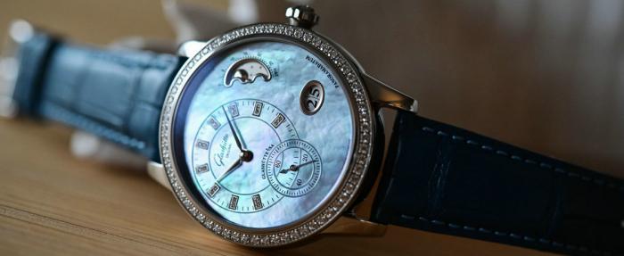 格拉苏蒂原创PanoMatic Luna腕表------秀外慧中