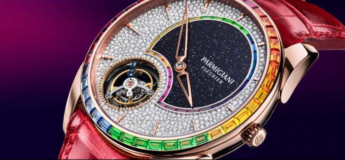 帕玛强尼(Parmigiani Fleurier)发布Tonda 1950 飞行陀飞轮双彩虹圈腕表
