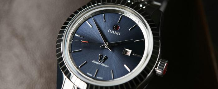 雷达金马系列蓝盘女装腕表------干练女人必备