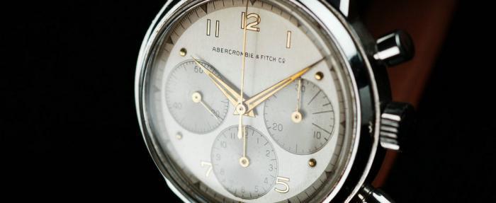 上世纪50年代的Abercrombie & Fitch三眼计时码表------当A&F还不是青少年时装品牌时…