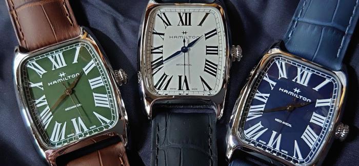 汉米尔顿发布美国经典BOULTON系列带有1940年代装饰主义风格手动上链腕表
