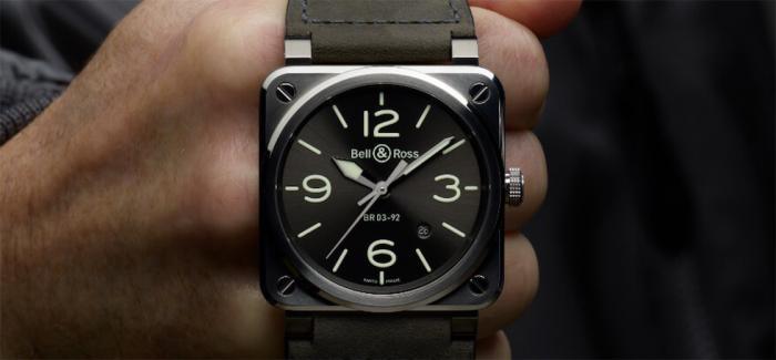 BELL & ROSS柏莱士发布新款BR 03-92 GREY LUM腕表