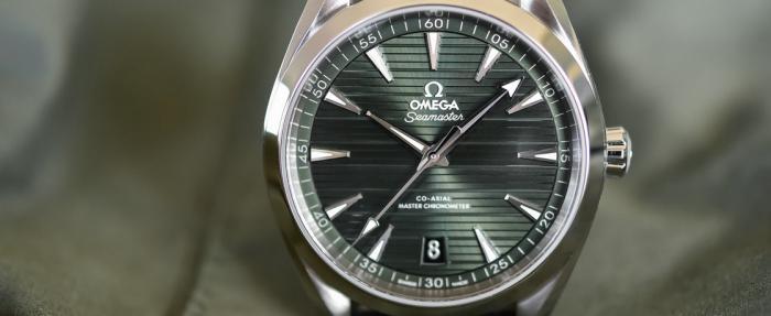 欧米茄海马系列Aqua Terra 150M绿色表盘腕表------欧记绿海马