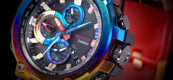 卡西欧发布彩虹离子电镀表圈的MT-G
