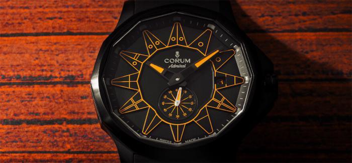 昆仑表发布全黑版本海军上将系列42mm自动机械腕表