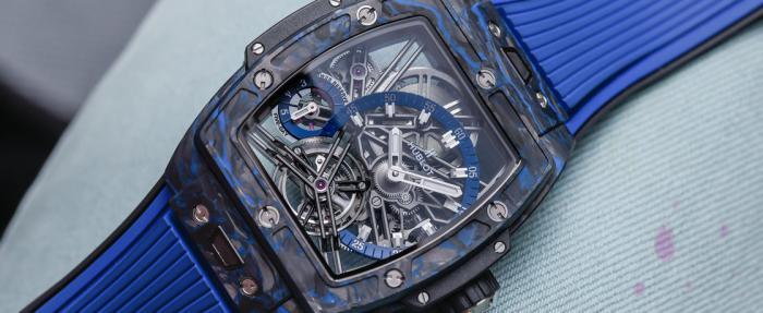 """宇舶Spirit Of Big Bang系列陀飞轮Carbon Black/Blue腕表——宇舶版的""""理查德米尔"""""""