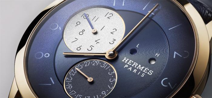 """【2020""""钟表与奇迹""""】爱马仕Slim d'Hermès GMT两地时腕表"""