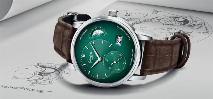 格拉苏蒂原创Pano偏心系列腕表新添深绿色表盘