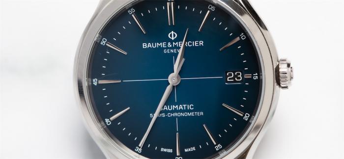 名士克里顿系列Baumatic蓝色渐变腕表点评