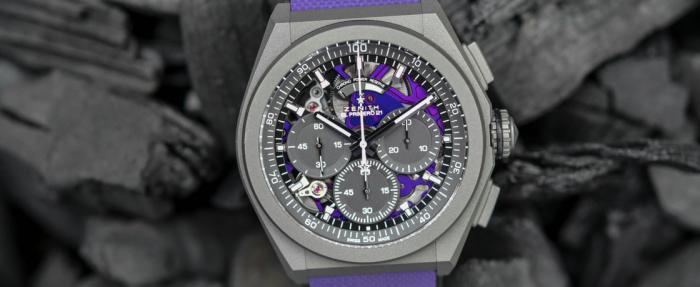真力时Defy 21 Ultraviolet计时码表——机芯是高频颜色也是高频