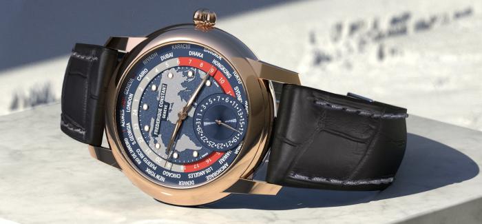 康斯登发布全新18K玫瑰金经典世界时间自动机械腕表