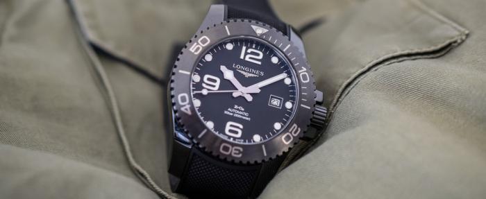 浪琴HydroConquest康卡斯潜水系列全黑陶瓷腕表——浪琴版海马300M