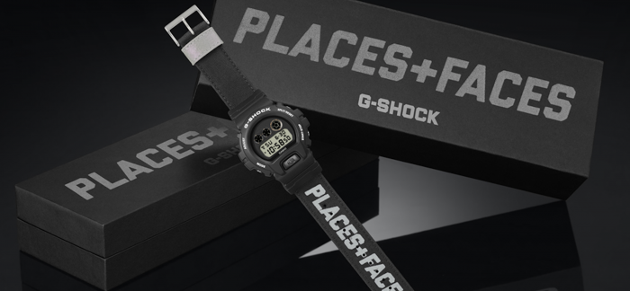 G-SHOCK首度携手PLACES+FACE,招牌反光材质设计融入表款中