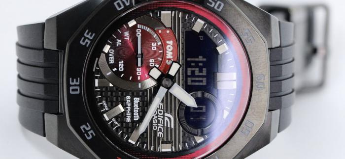 CASIO卡西欧EDIFICE携手日本顶级车队TOM`S推出纪念款腕表