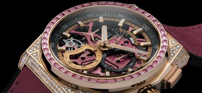ZENITH真力时推出DEFY 21粉红腕表,致献和关爱女性