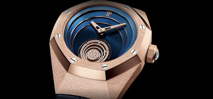 爱彼推出皇家橡树概念系列浮动式陀飞轮霜金腕表