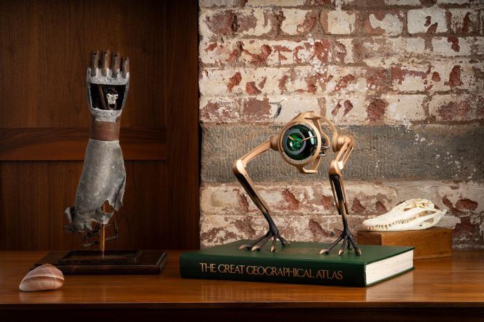 MB&F 与 Massena LAB 合作推出 T-Rex Bronze 青铜霸王龙座钟