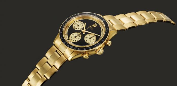 一枚黄金表壳 Rolex Daytona JPS 熊猫盘计时码表以121.5万英镑拍卖成交