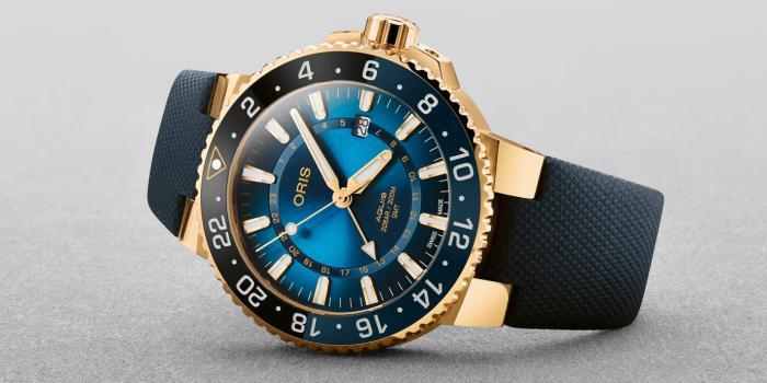 黄金打造潜水表就是狂:Oris豪利时卡里斯福特礁限量表