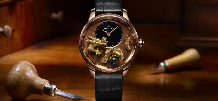 雅克德罗发布浮雕龙时分小针盘腕表