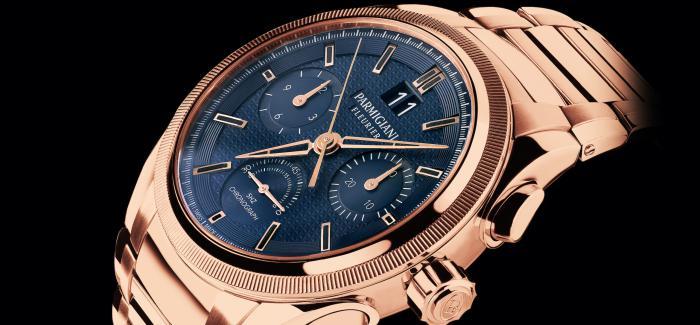 帕玛强尼推出全新通达系列Tondagraph GT玫瑰金蓝色盘面腕表