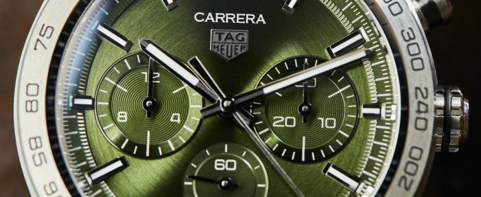 泰格豪雅卡莱拉系列运动计时码表绿盘款——谁不爱这不息的变幻