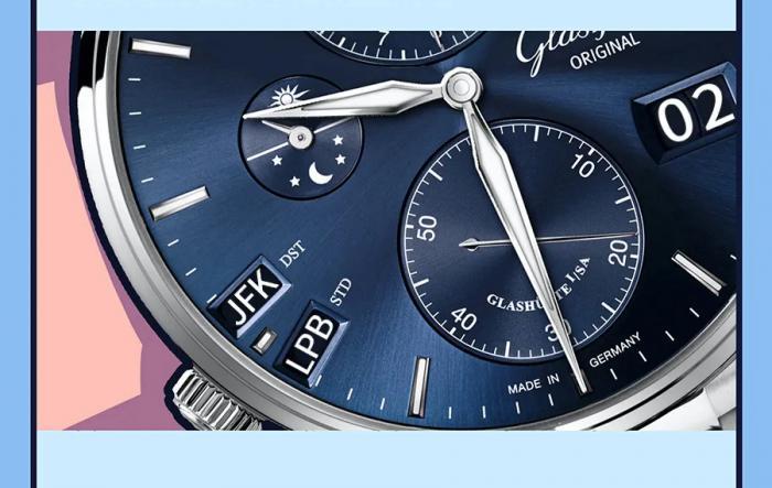 这只格拉苏蒂原创世界时腕表,真的有够贴心