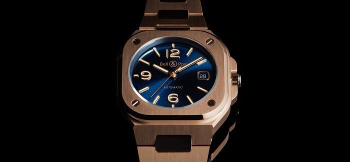 柏莱士Bell&Ross推出BR 05系列最新玫瑰金表款BR 05 BLUE GOLD