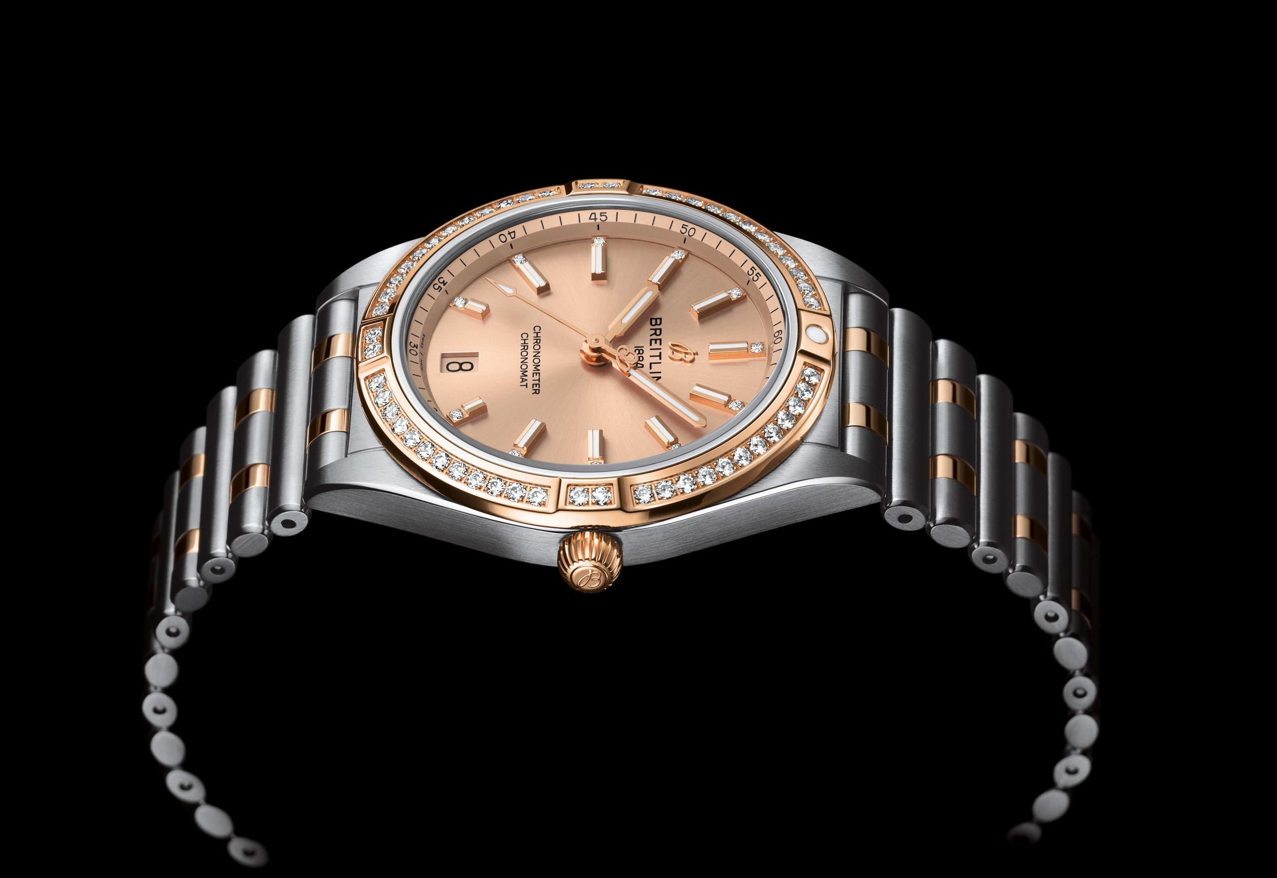 百年灵推出17枚2020款女士机械计时腕表