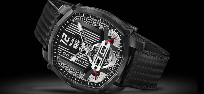 Chopard萧邦推出 Mille Miglia Lab One 古董汽车灵感概念腕表:自动上链停秒陀飞轮机芯
