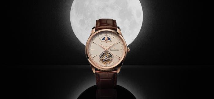 积家推出全新MASTER ULTRA THIN超薄大师系列月相显示陀飞轮腕表