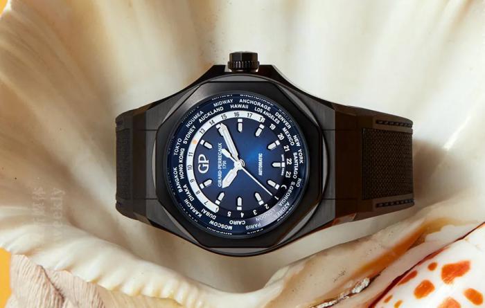 酷黑时尚的GP芝柏表Laureato桂冠Absolute WW.TC世界时区腕表 丨 大腕钟表新媒体