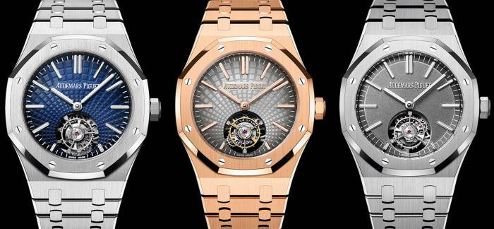爱彼全新推出首款皇家橡树系列自动上链浮动式陀飞轮腕表