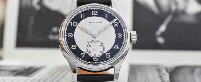 浪琴经典复刻系列Tuxedo小秒针腕表——无声的优雅是黑白