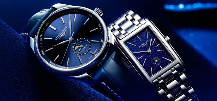 Longines浪琴表五款蓝色面盘腕表新年推荐