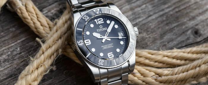 Titoni梅花Seascoper 600潜水腕表——梅花水鬼也很香啊
