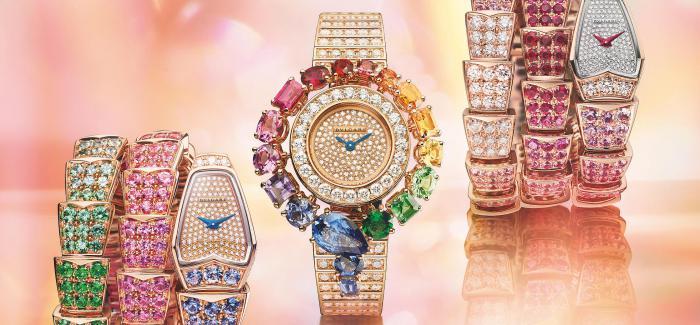 BVLGARI宝格丽Colour Treasure系列臻呈 Rainbow与Colour Wave Serpenti高级珠宝腕表