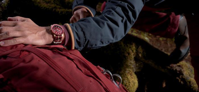 Rado瑞士雷达表Captain Cook库克船长勃艮第红青铜腕表