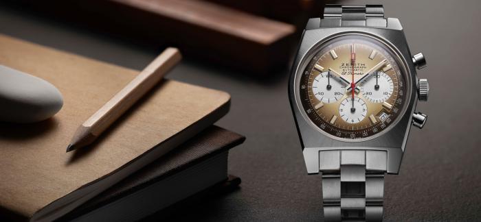 再现1969年出品的第一款渐变表盘EL PRIMERO腕表,真力时推出CHRONOMASTER旗舰系列A385复刻版腕表