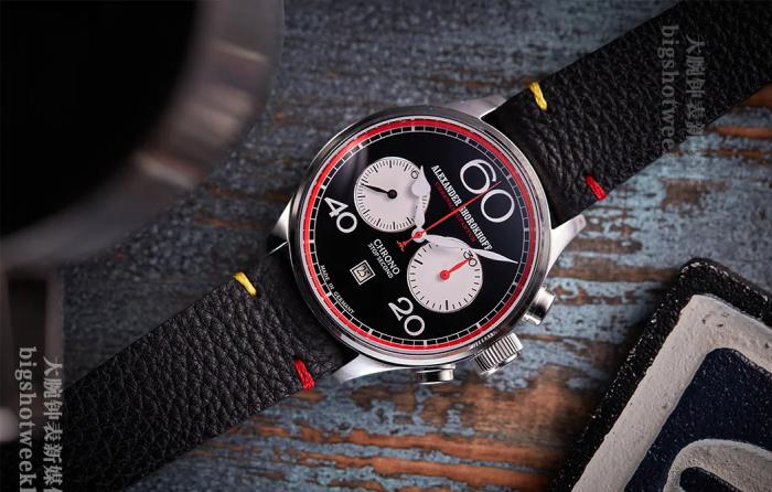 搭配俄罗斯手动计时机芯的Alexander-Shorokhoff Chrono C01 红色特别版 丨 大腕钟表新媒体原创