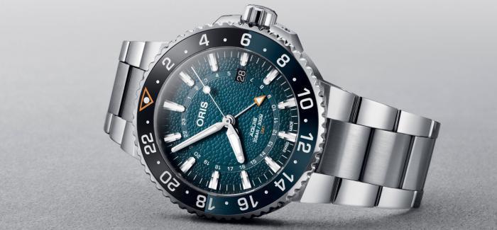 ORIS豪利时推出以Aquis GMT潜水表为原型的鲸鲨限量版腕表
