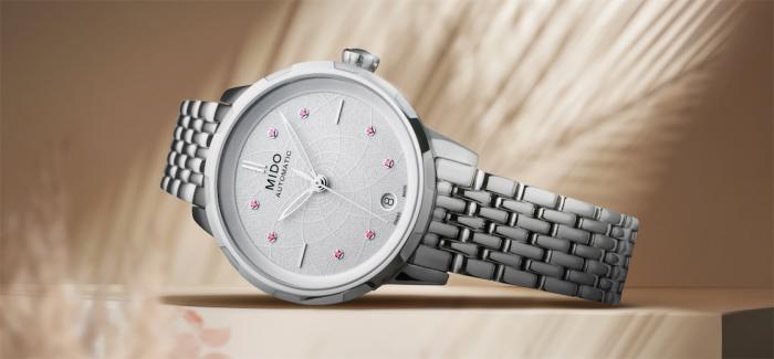 瑞士美度表花淅系列长动能女士腕表绚丽上市