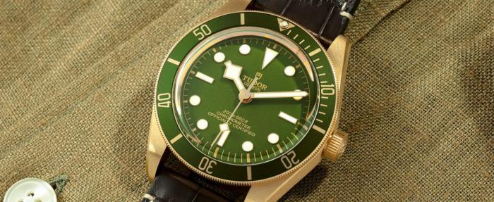 【2021钟表与奇迹】帝舵碧湾1958型18k腕表——绿的那叫一个地道
