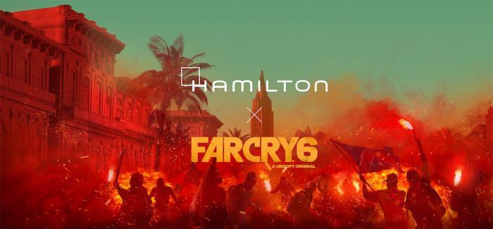 汉米尔顿与《孤岛惊魂6》(FAR CRY® 6)联合定制游戏内置时计