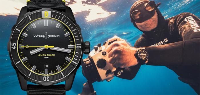 深海掠食者:Ulysse Nardin雅典表柠檬鲨潜水表
