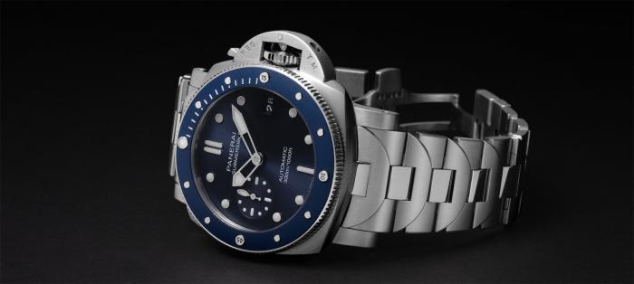 全新表链设计的沛纳海SUBMERSIBLE BLU NOTTE 潜行系列腕表
