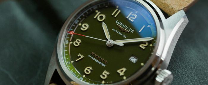浪琴先行者系列绿盘腕表——绿色虽迟但到