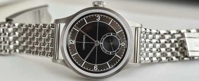 浪琴经典复刻系列Sector Dial黑色表盘腕表——请认准原装钢链款