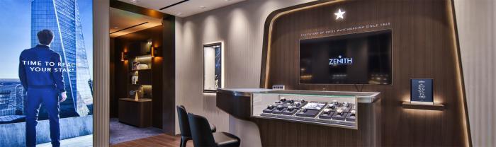 ZENITH真力时全新上海旗舰店和巴黎乐蓬马歇精品店重装开业,推出两大独家真力时典藏腕表系列