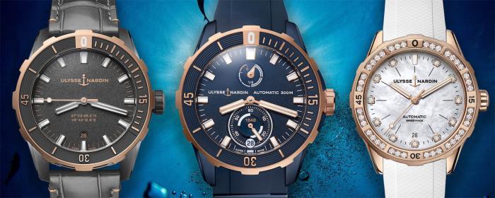Ulysse Nardin雅典表推出三枚Diver系列天文台潜水表